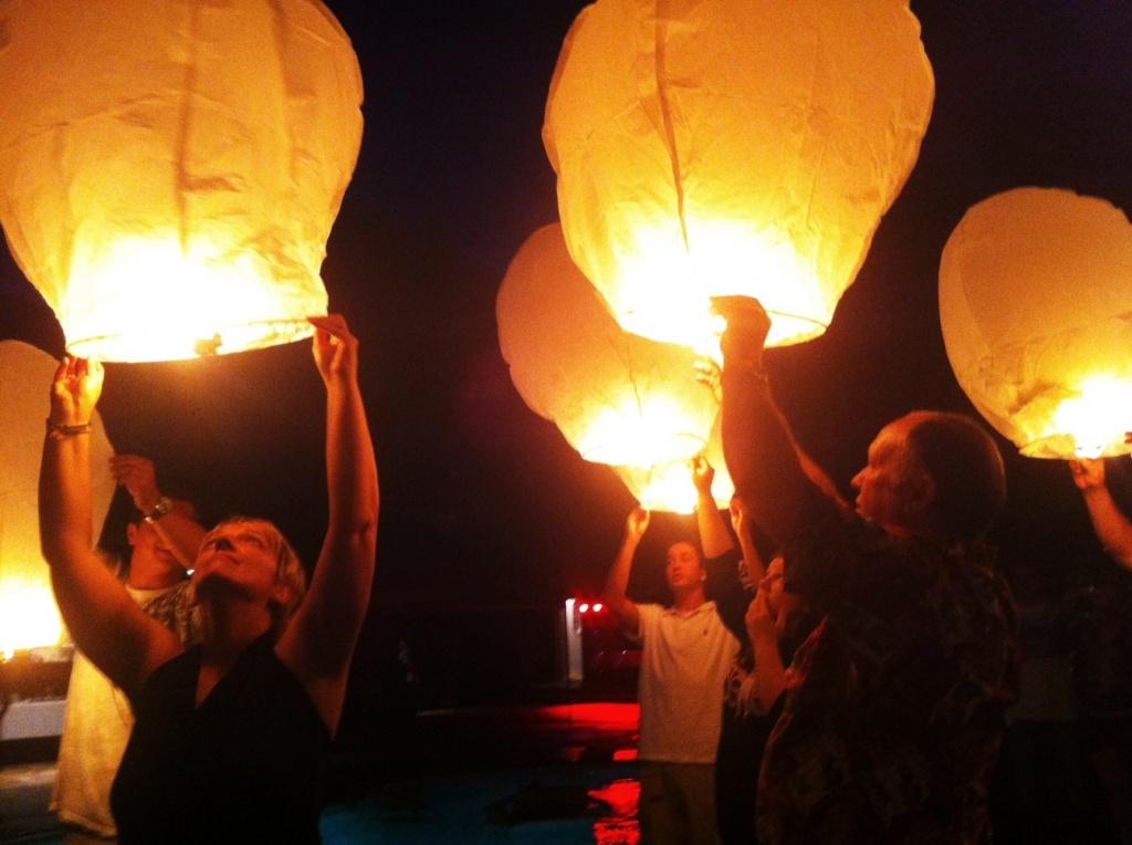 как запускать китайские небесный фонарик