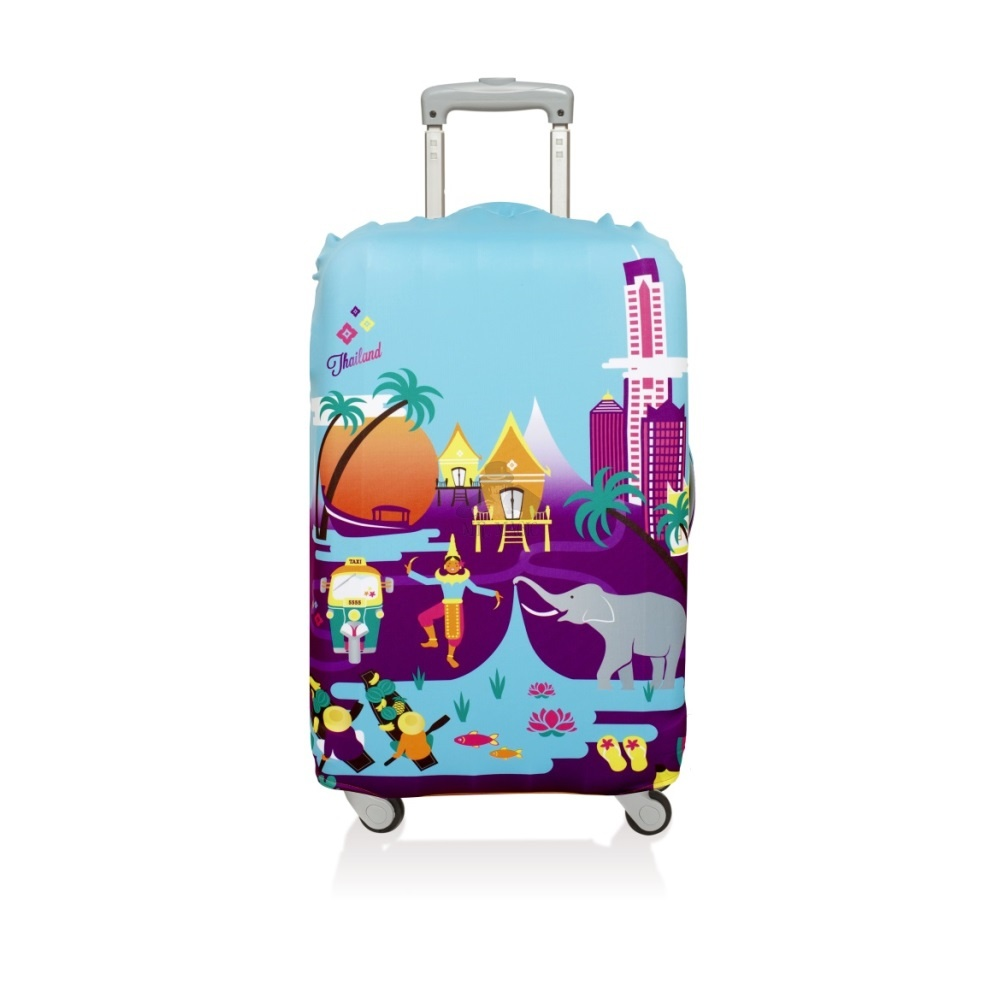 Чехол для чемодана LOQI LUGGAGE COVER M - URBAN Thailand.jpg